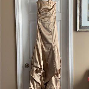 Champagne/Gold Prom Dress
